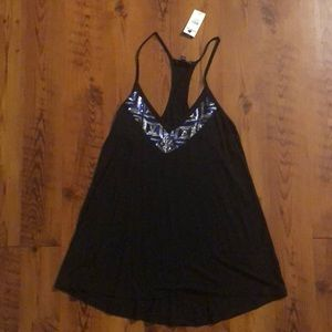 Black Racerback Shirt NWT